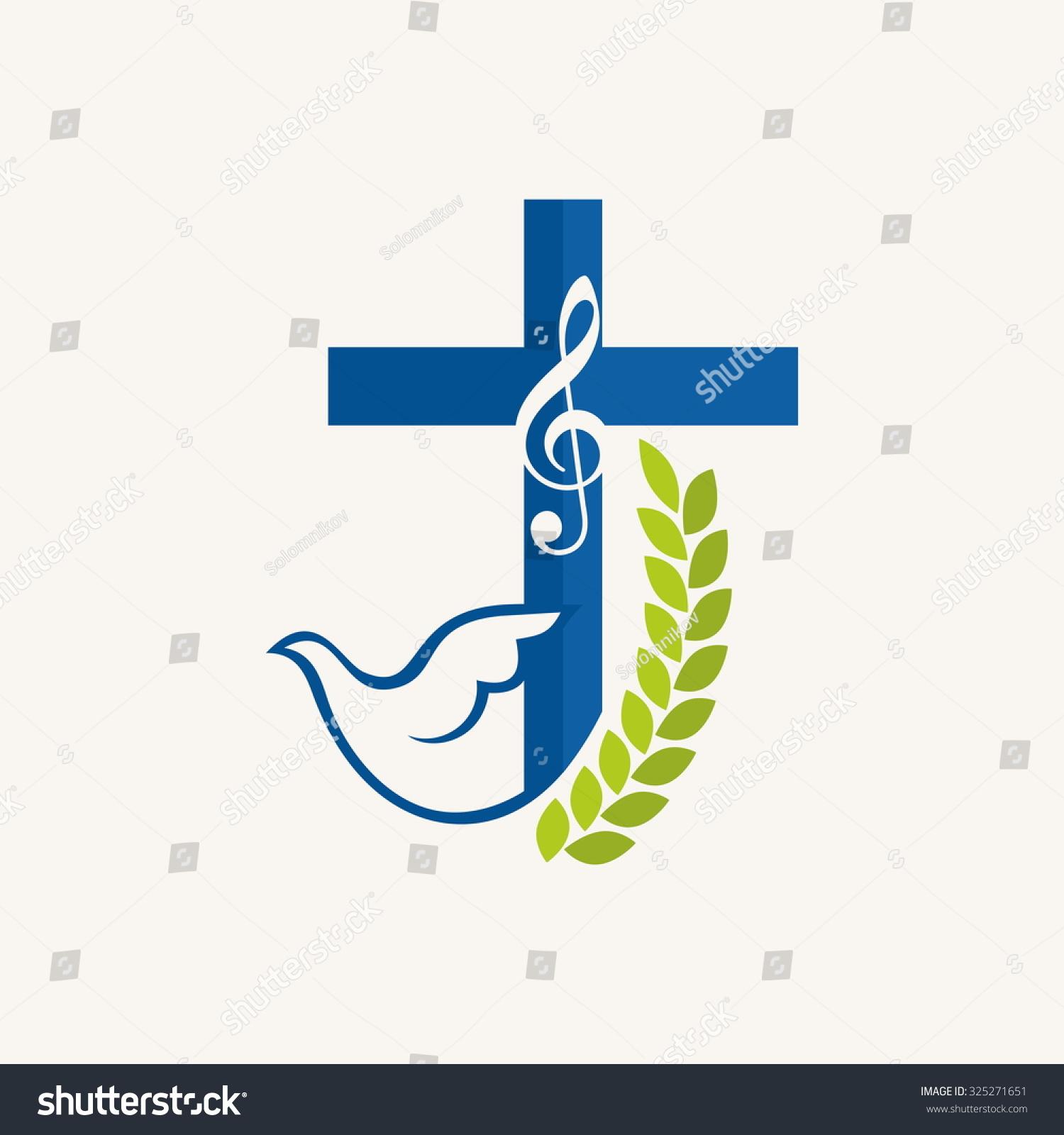Church logo music cross dove holy stock vector royalty free church logo music cross and dove holy spirit thecheapjerseys Gallery
