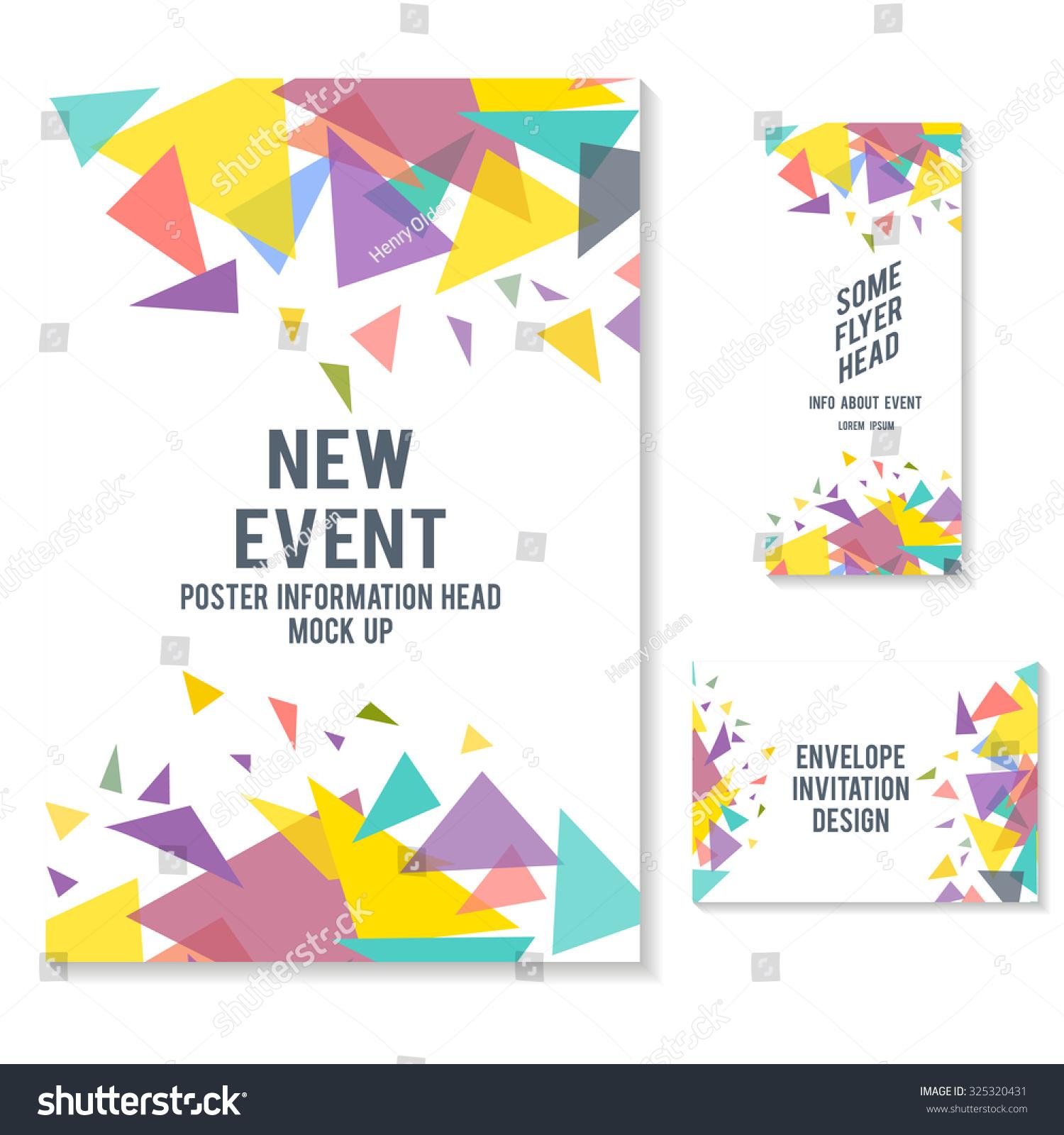 fliers brochure envelope design mock vector stock vector 325320431 shutterstock. Black Bedroom Furniture Sets. Home Design Ideas