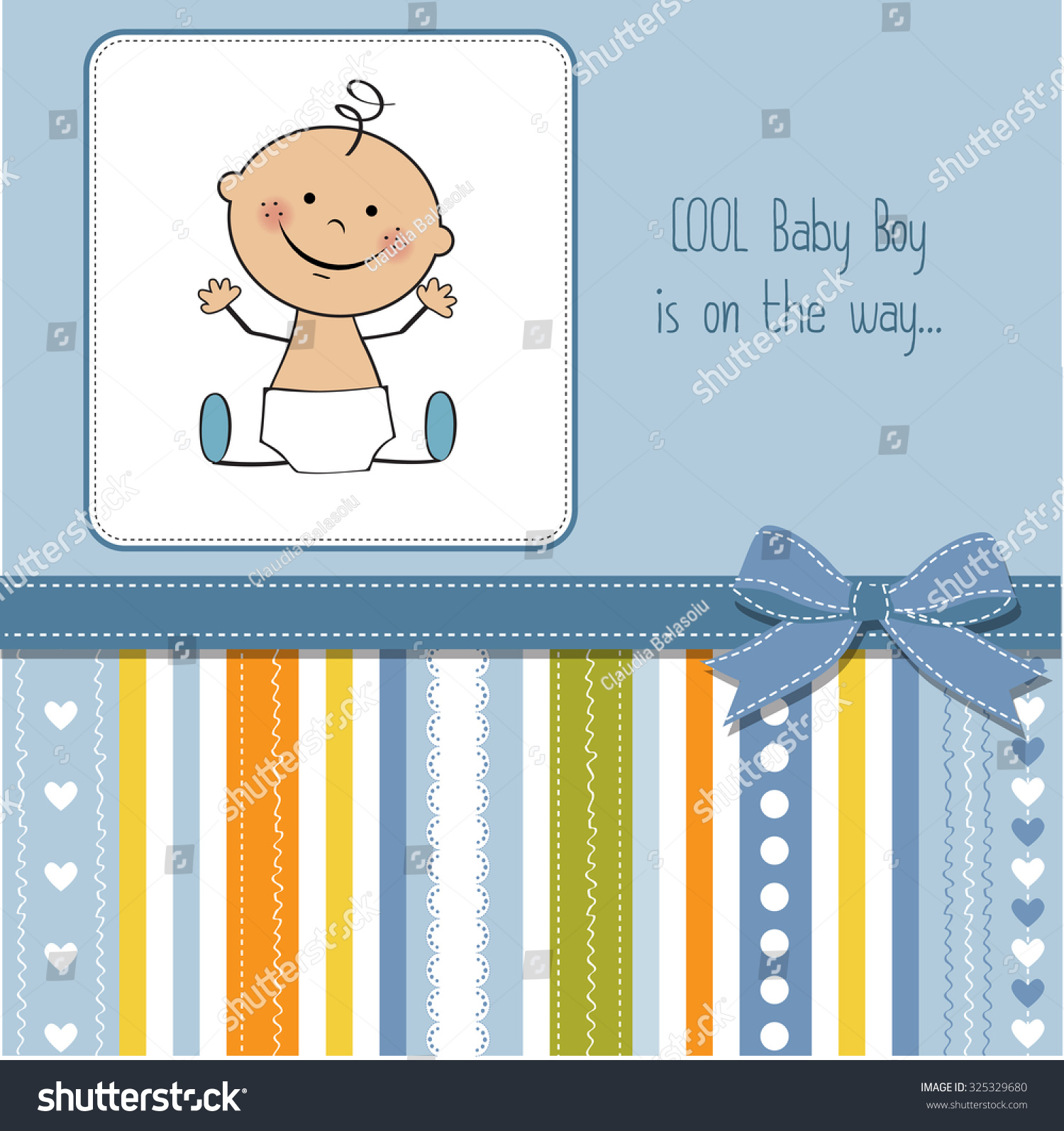 Baby boy arrival card vector by leonart image 600444 vectorstock - Baby Boy Shower Card Vector Eps10 325329680 Shutterstock Wallpaper Gallery Baby Shower Card Vector