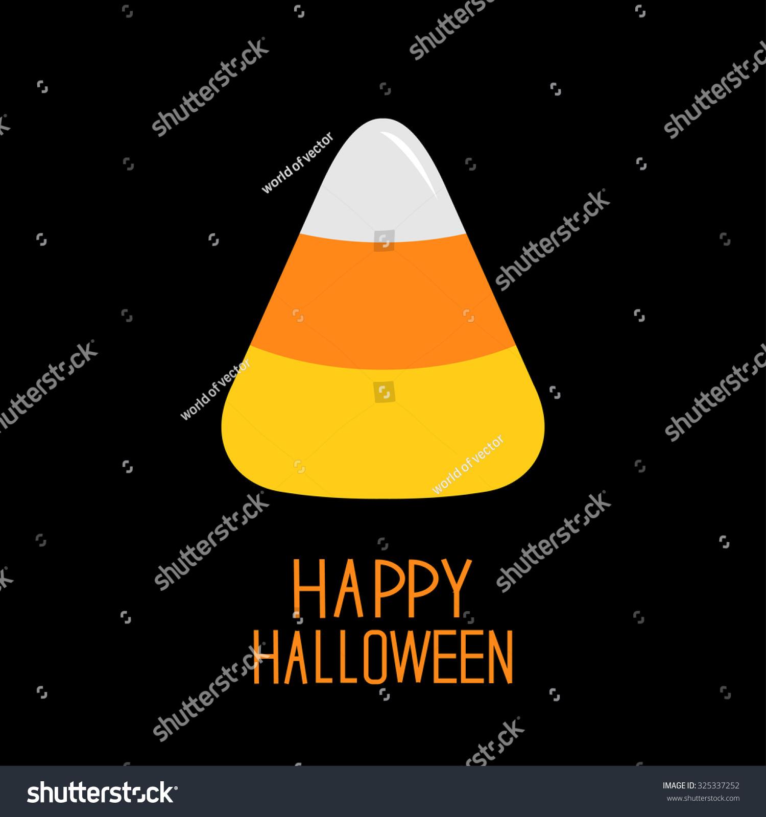 Candy Corn Happy Halloween Card Flat Stock Vector 325337252