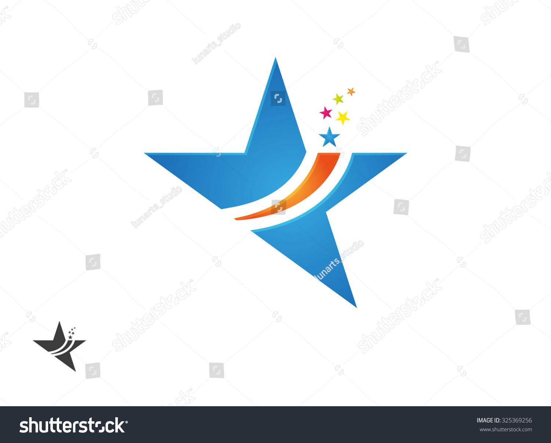 Star Logo Abstract Symbol Star Template Stock Vector 325369256