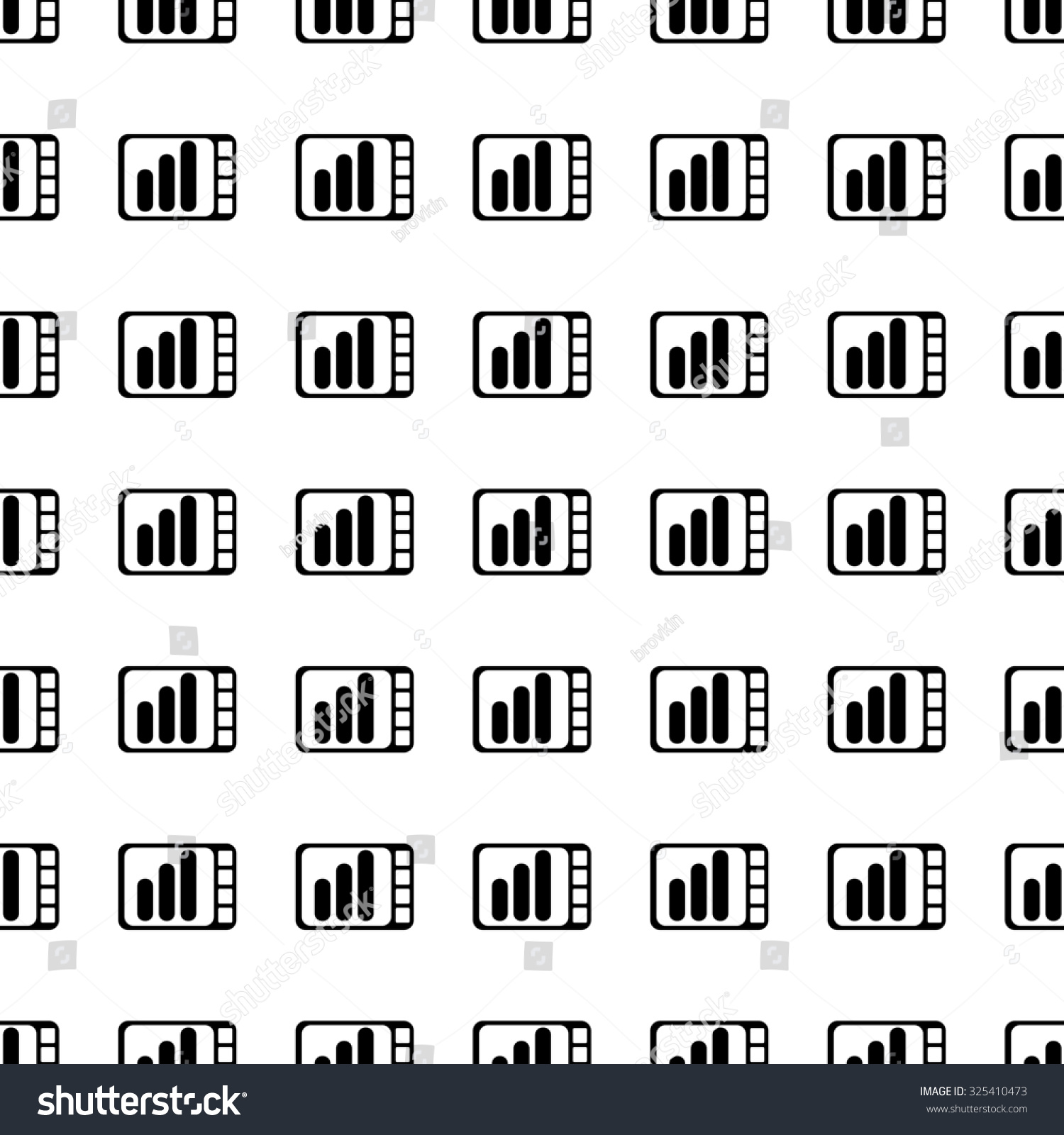 Tablet Pc Icon Seamless Pattern Tiling Stock Illustration ...