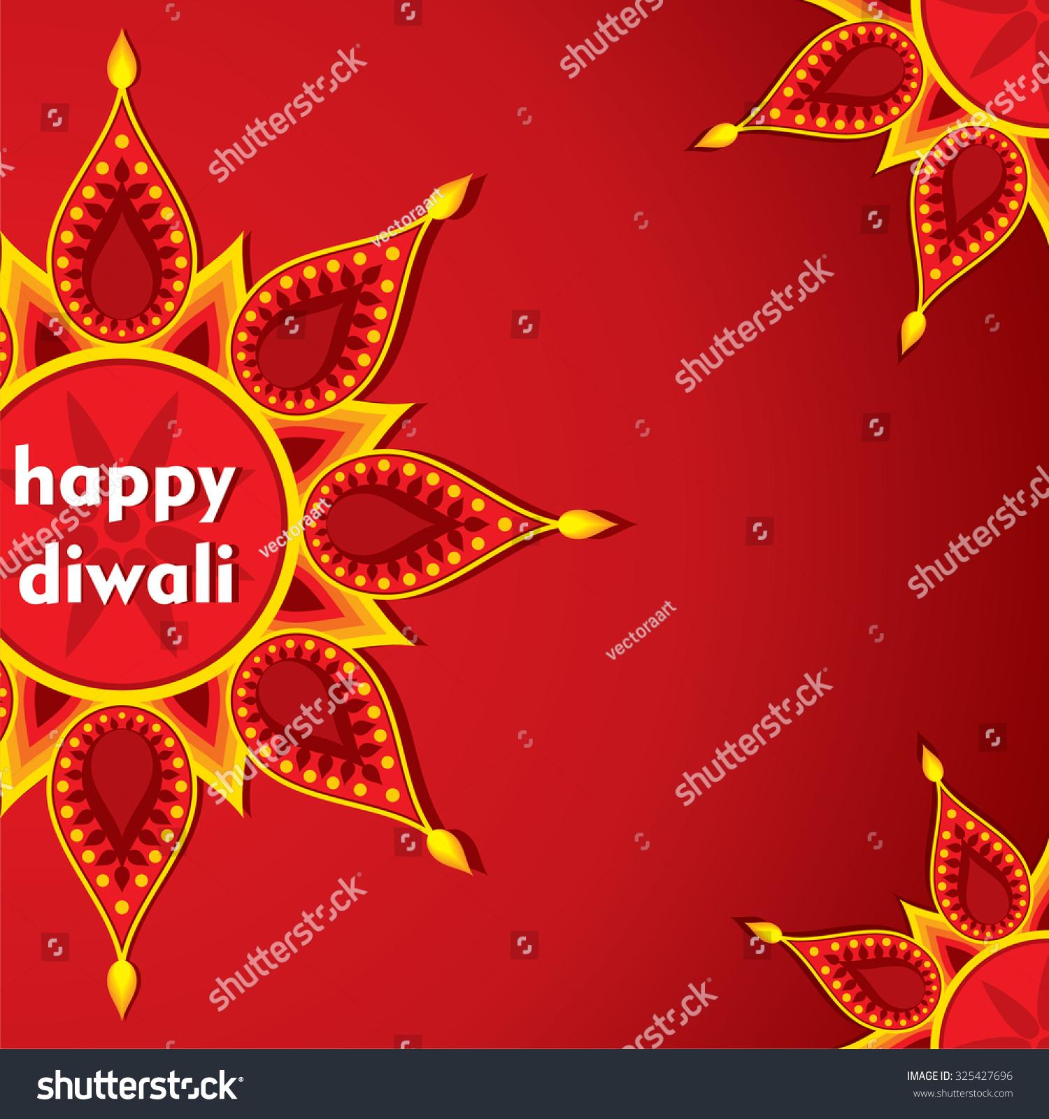 Creative Happy Diwali Greeting Card Design Stock Vector Royalty