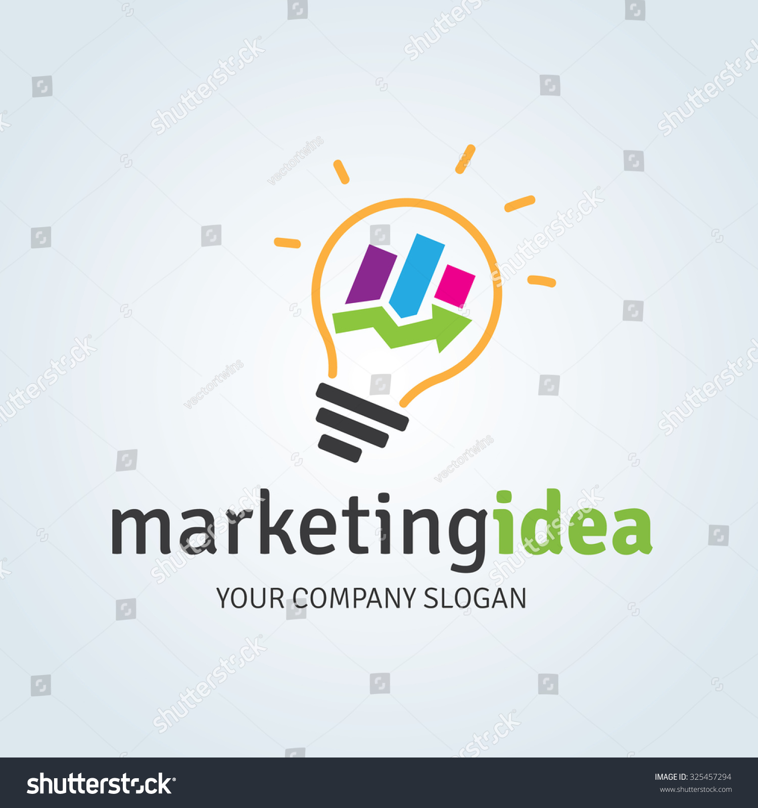 Marketing idea logo template stock vector 325457294 shutterstock marketing idea logo template altavistaventures Choice Image
