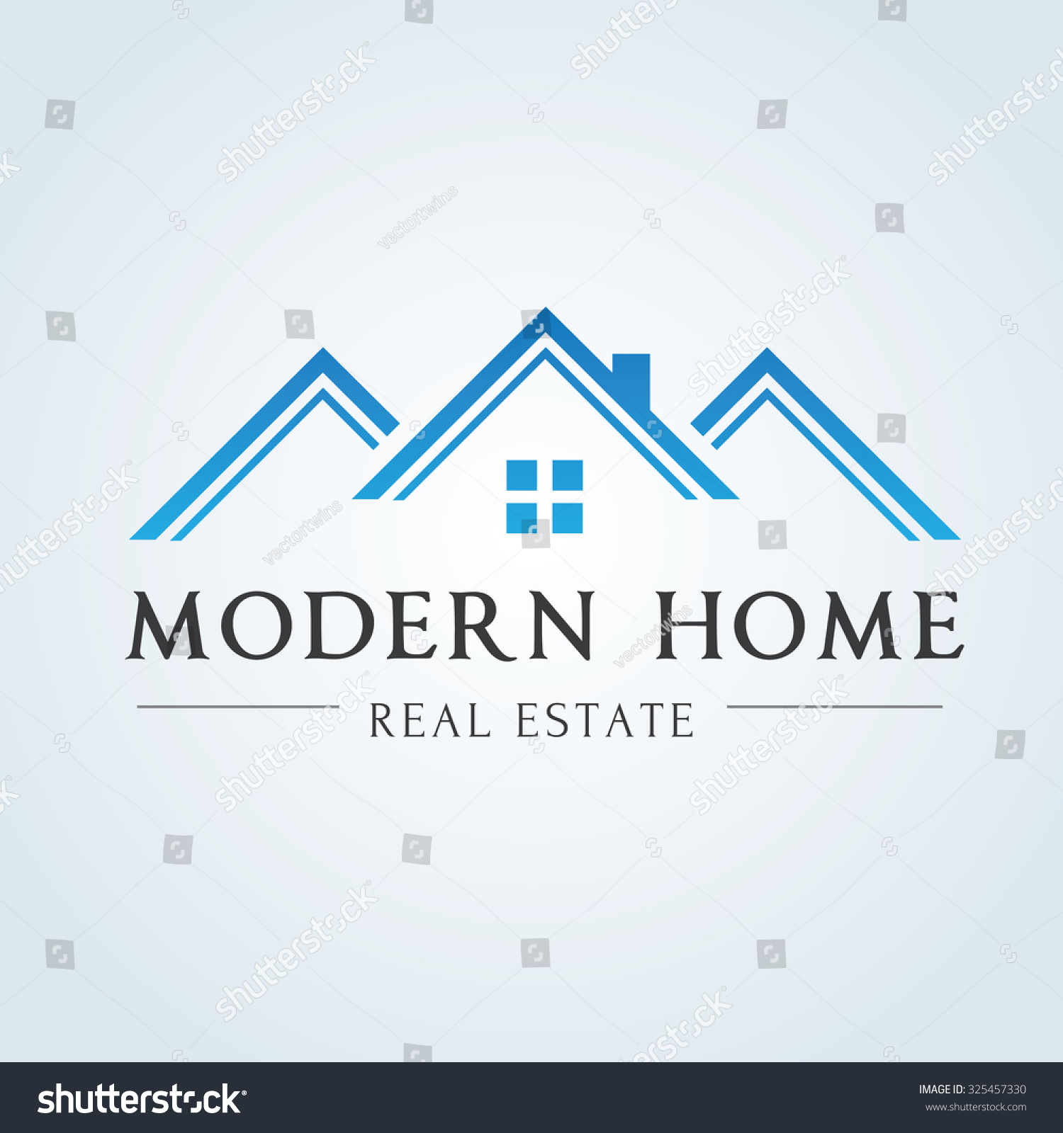 Modern home real estate for Modern house logo