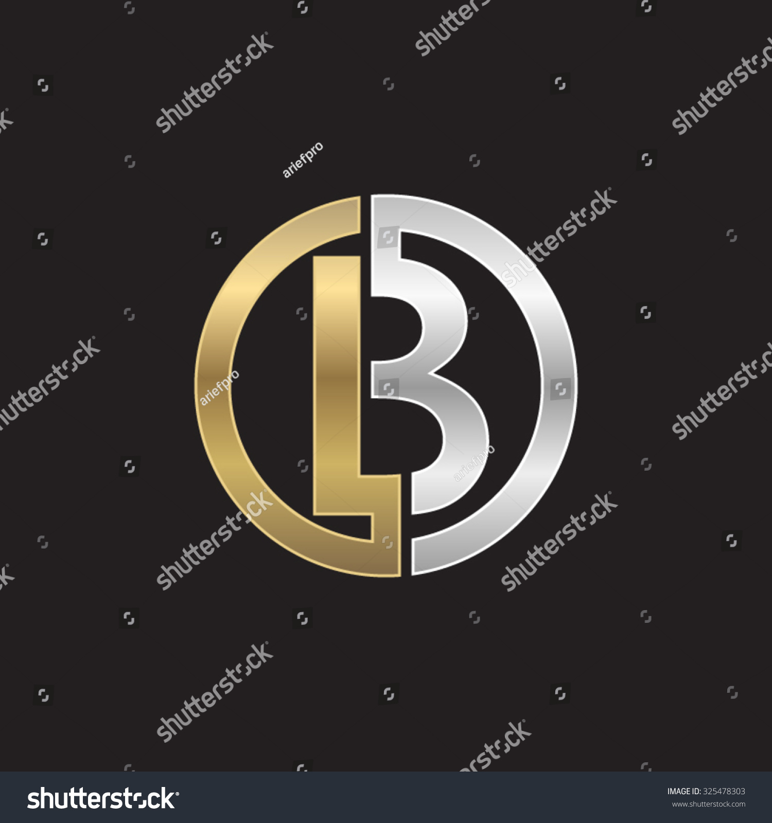 b initial circle company bo ob stock vector 325478303 shutterstock