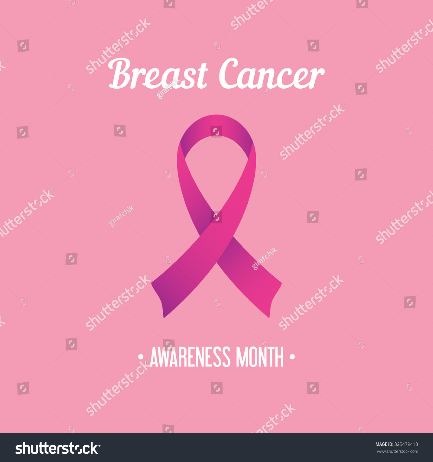 Breast cancer awareness month symbol on stock vector 325479413 breast cancer awareness month symbol on pink vector illustration biocorpaavc Choice Image