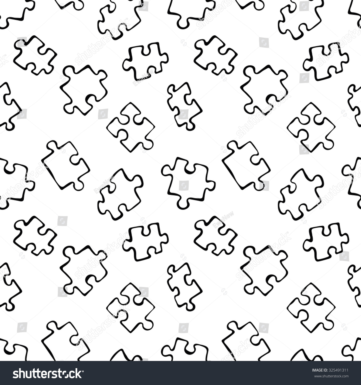 Line Drawing Crossword Clue : Puzzle piece drawing imgkid the image kid has it