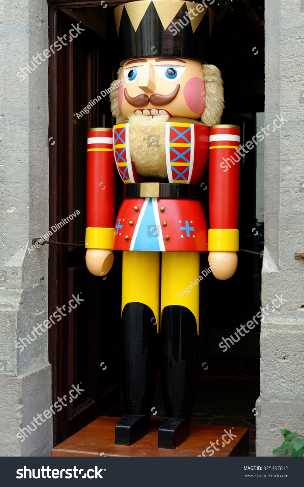 a large traditional toy soldier figurine in rothenburg ob der tauber germany it is - Large Toy Soldier Christmas Decoration