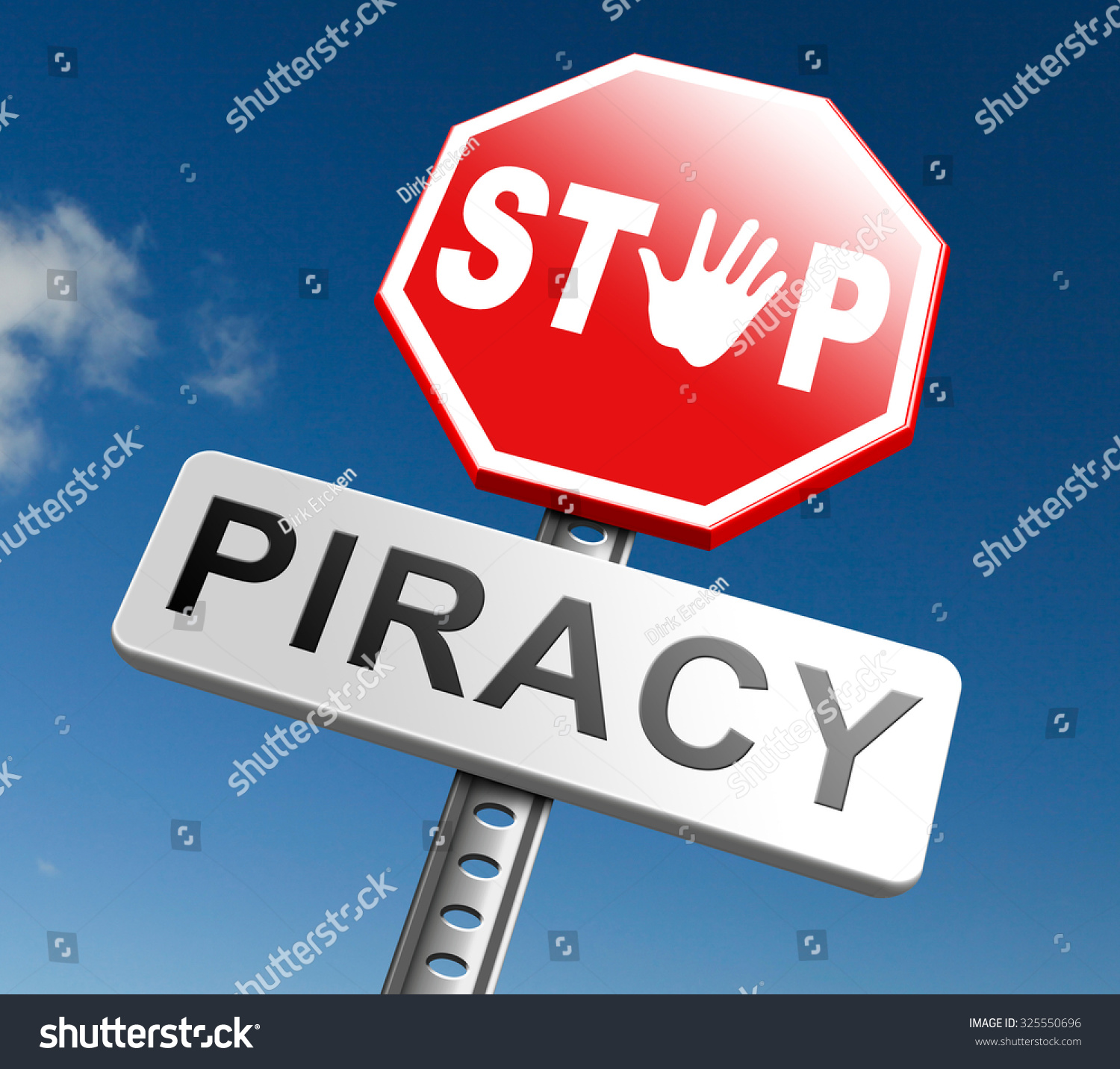 Intellectual Property Protection: Piracy Stop Illegal Download Movies Music Stock