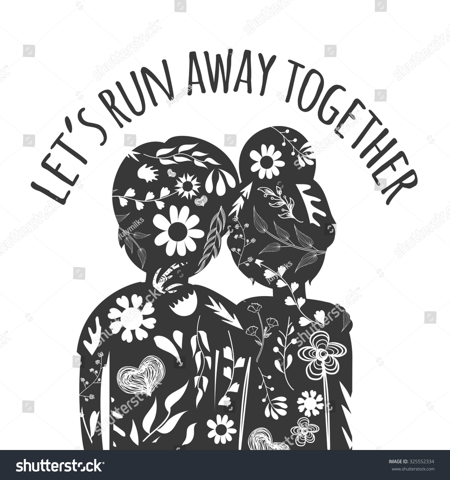 Vector Romantic Hipster Typography Poster Text Stock
