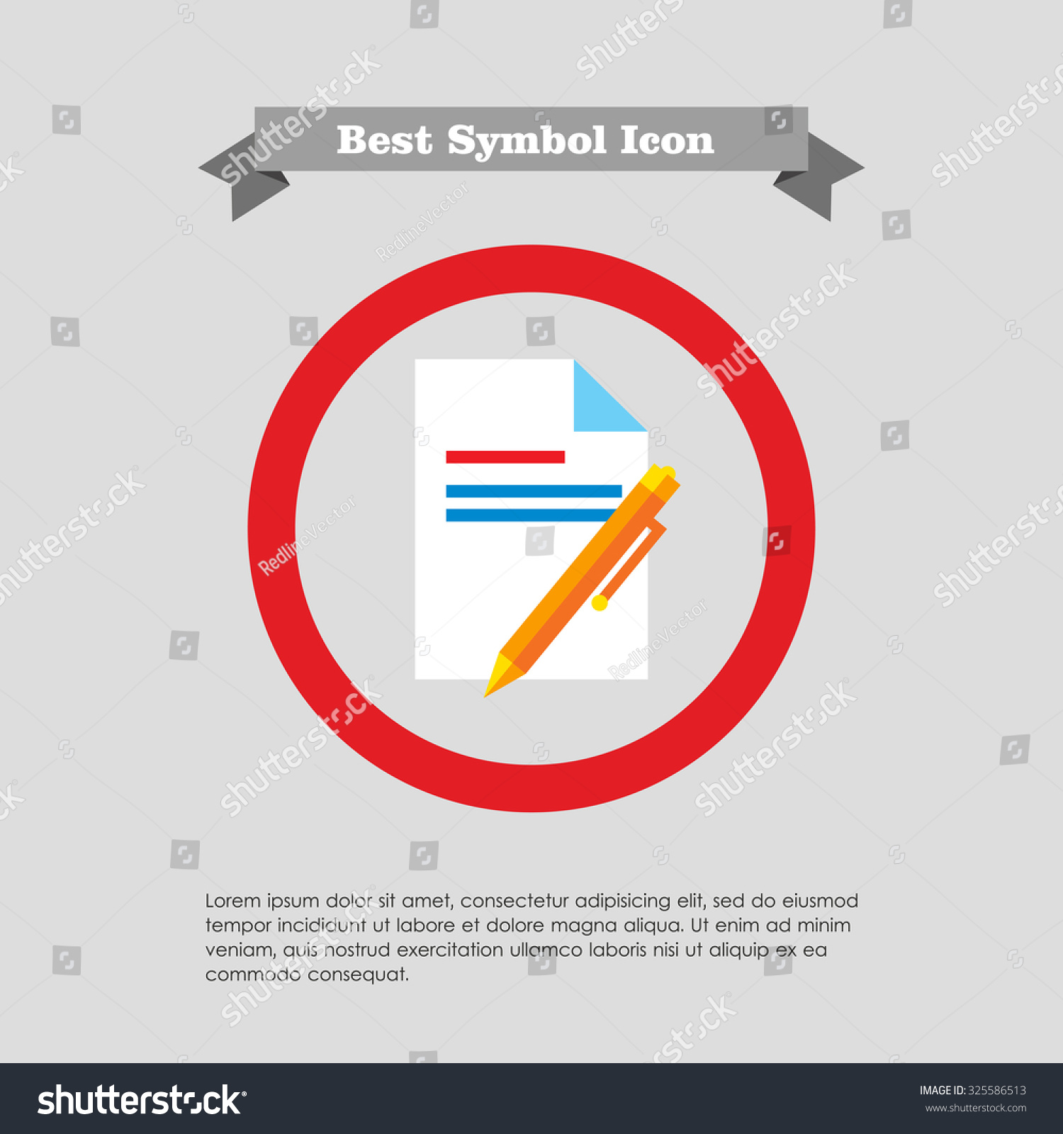Icon text document pen stock vector 325586513 shutterstock icon of text document and pen biocorpaavc Choice Image