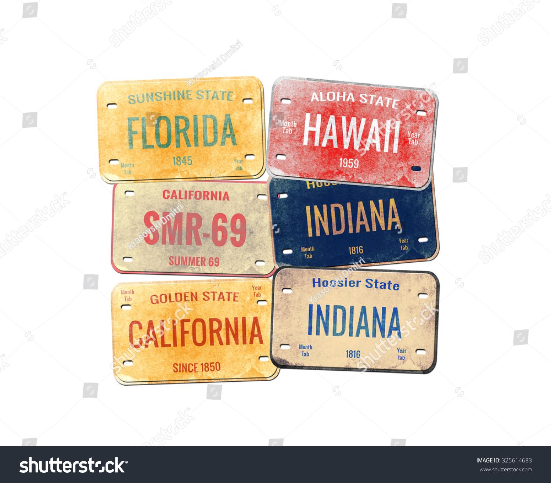 Old Car Plates Stock Illustration 325614683 - Shutterstock