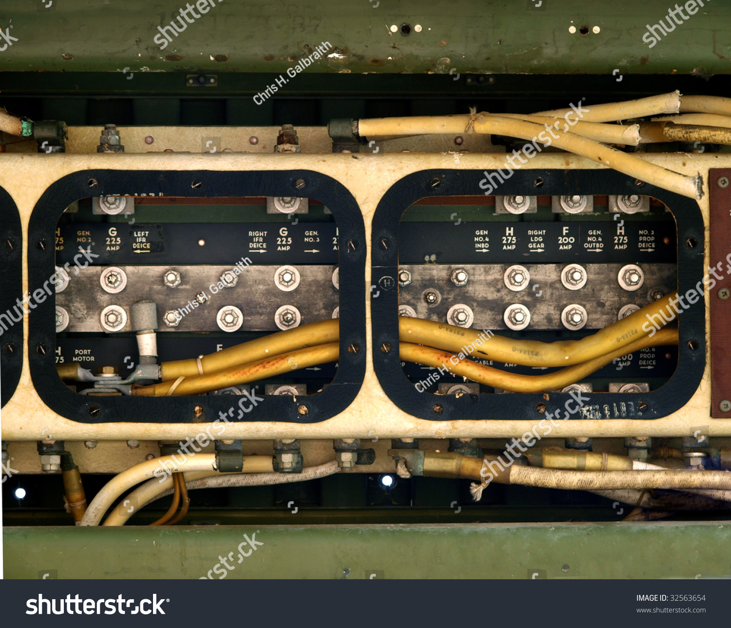 Wiring Junction Box Located Wing Aircraft Stock Photo Edit Now In The Of An