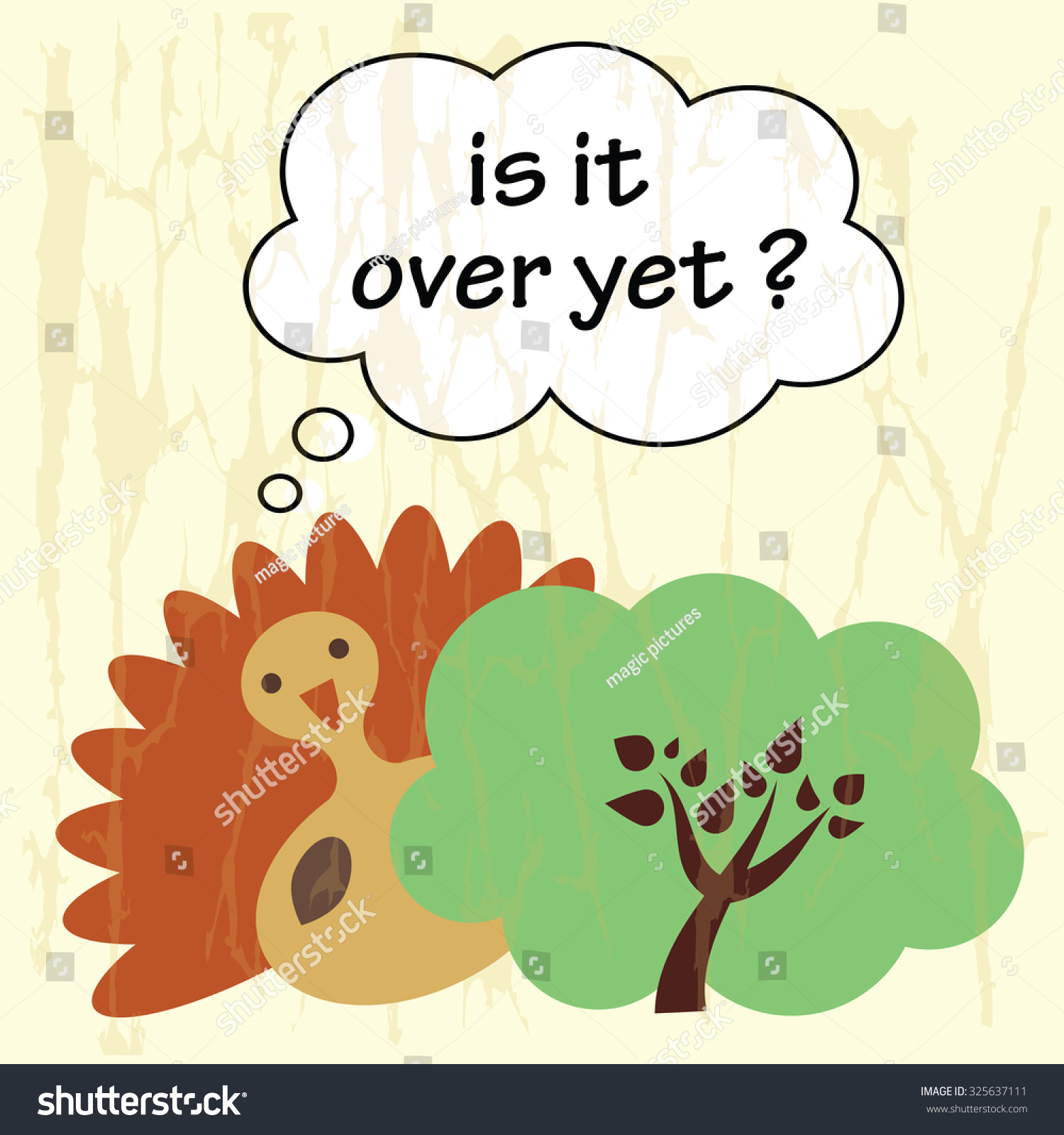 Funny Cartoon With Vector Illustrated Meme - Is It Over ...