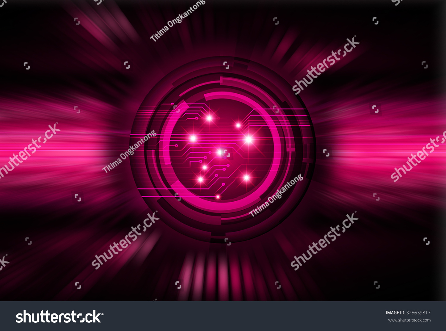 Dark Pink Color Light Abstract Technology Stock ...