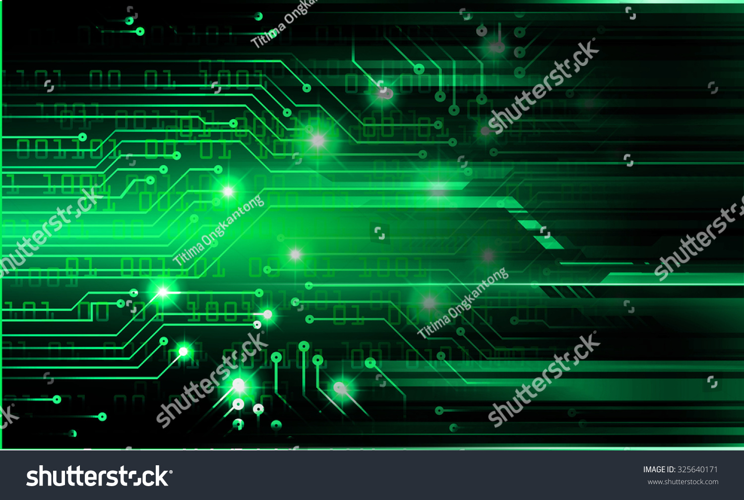 website colors neon : Dark Green Color Light Abstract Technology Background For Computer Graphic Website Internet And Business Circuit
