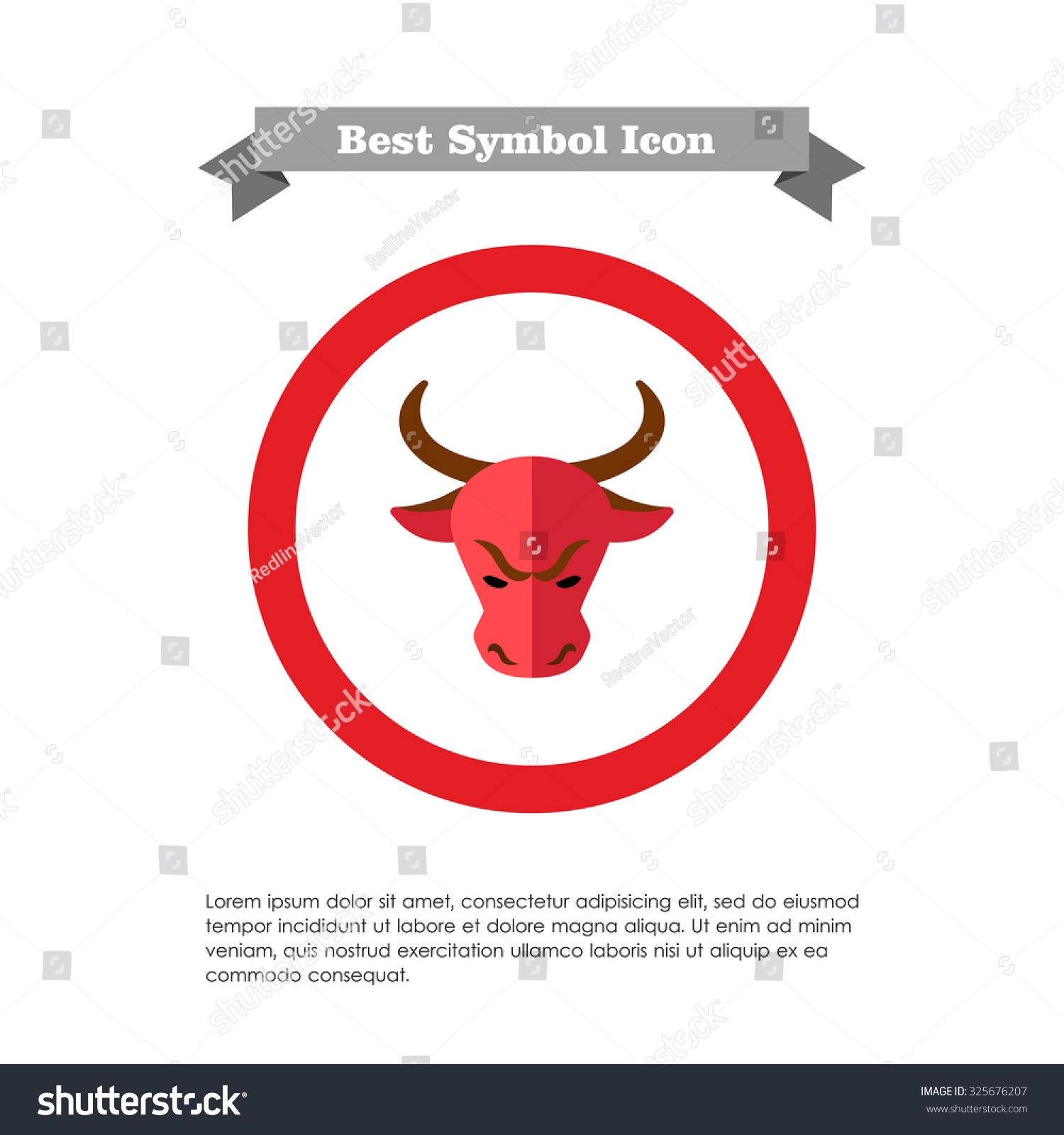 Icon bulls head stock market trend stock vector 325676207 icon of bulls head as stock market trend buycottarizona