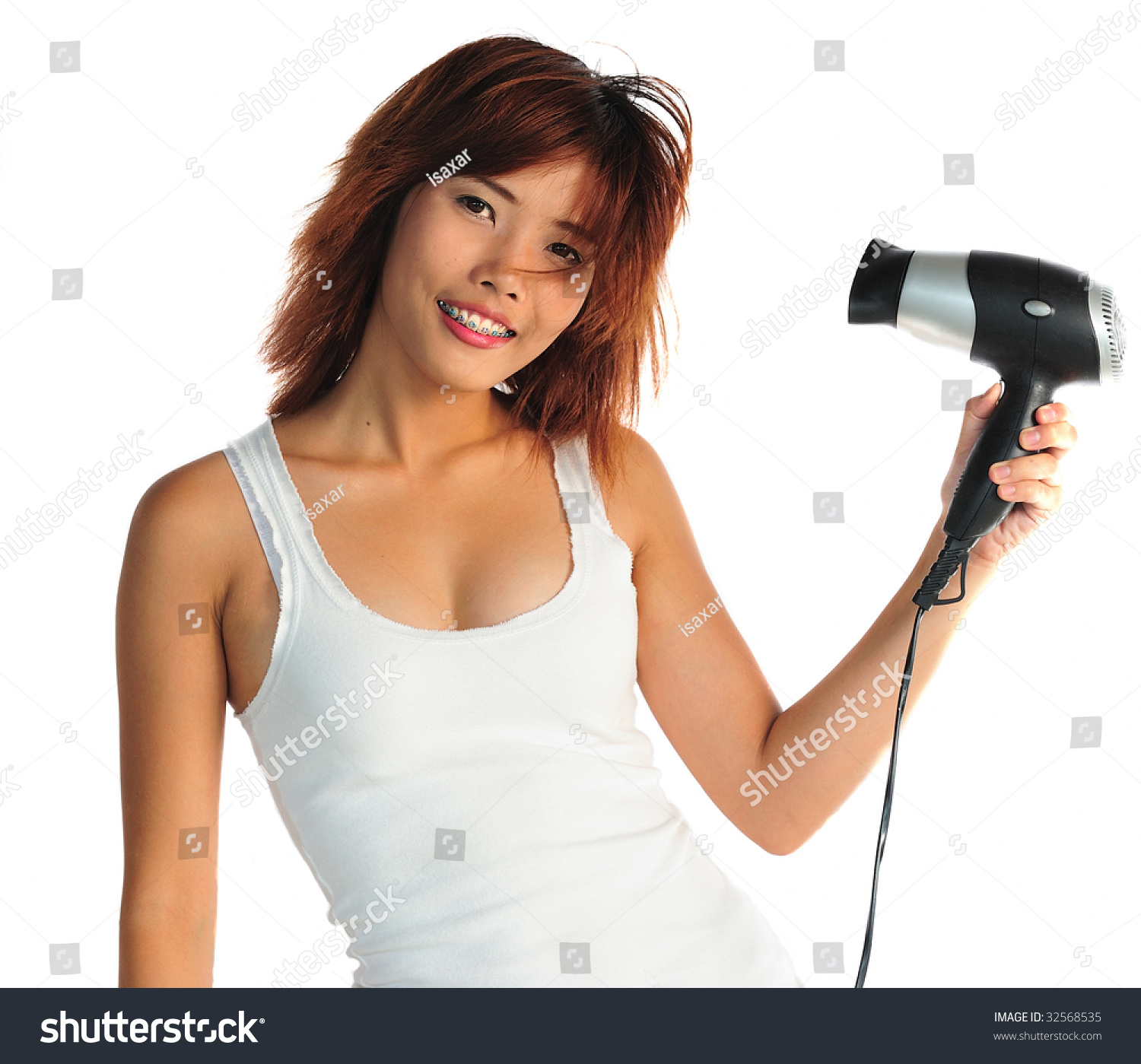 Japanese Hair Dryer >> Very Seductive Young Asian Woman Eating Stock Photo 32568535 - Shutterstock