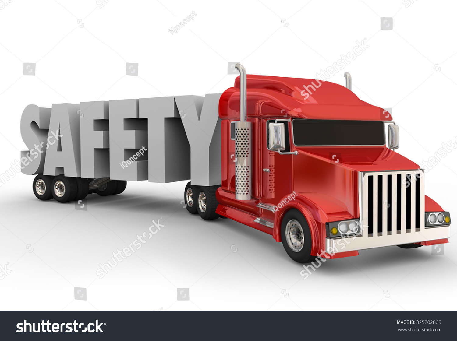 Trailer Safety : Safety d word on truck trailer stock illustration