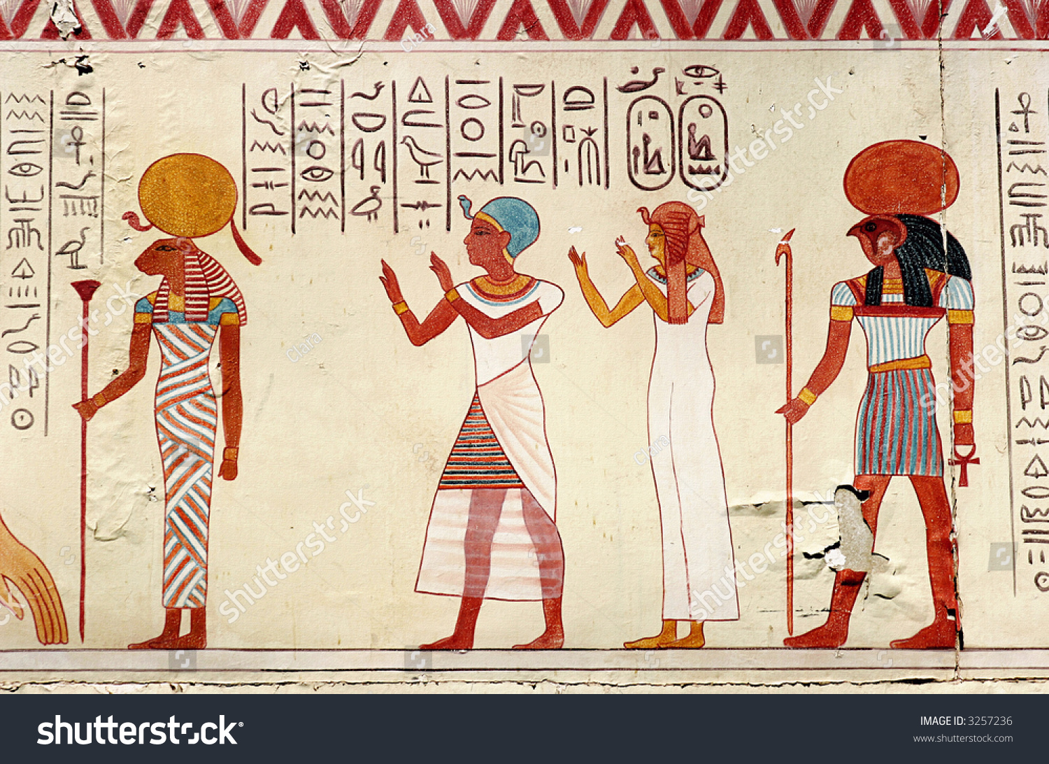 Like ancient egyptian painting stock photo 3257236 for Ancient egyptian mural
