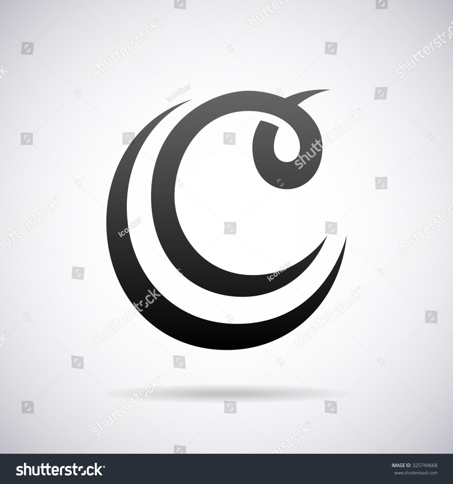 Logo Letter C Design Template Stock Vector 325749668 - Shutterstock