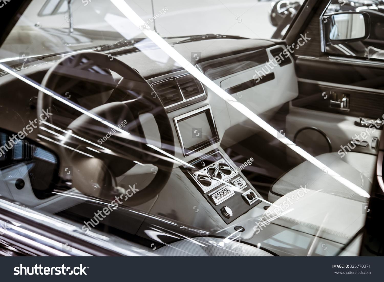 interior in retro car stock photo 325770371 shutterstock. Black Bedroom Furniture Sets. Home Design Ideas
