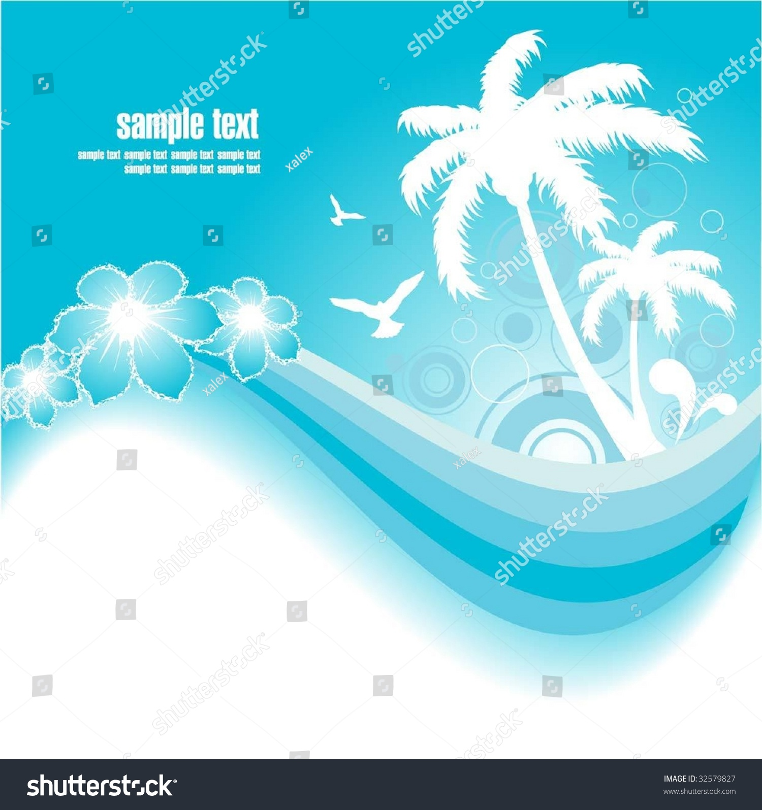 background of blue tropical - photo #28