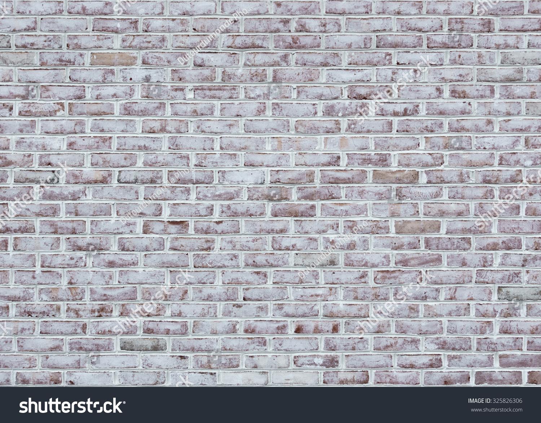 whitewashed brick wall texture background stock photo