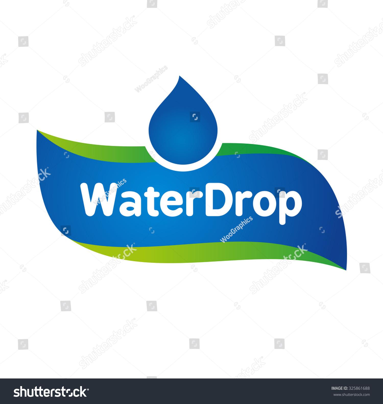 vector mineral bottled spring water logo stock vector