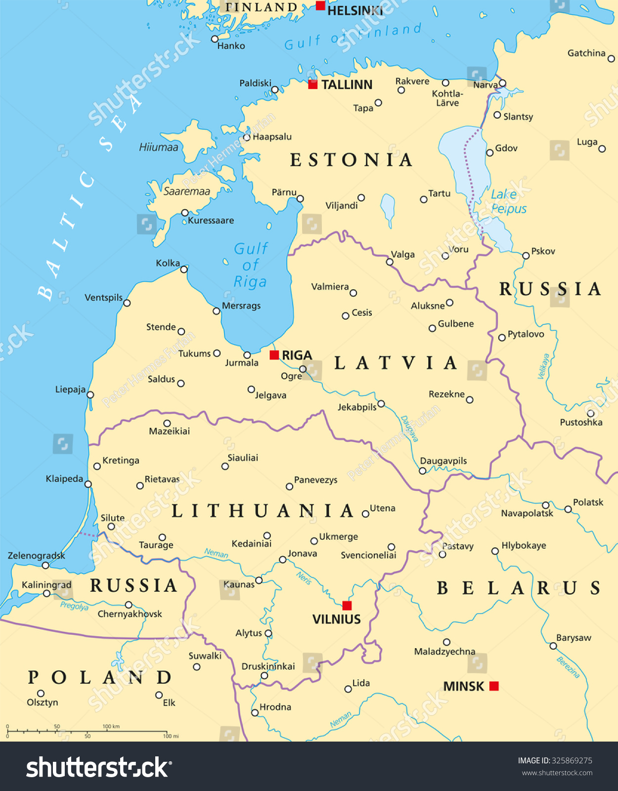 Baltic countries political map baltic states vector de baltic countries political map baltic states vector de stock325869275 shutterstock gumiabroncs Image collections