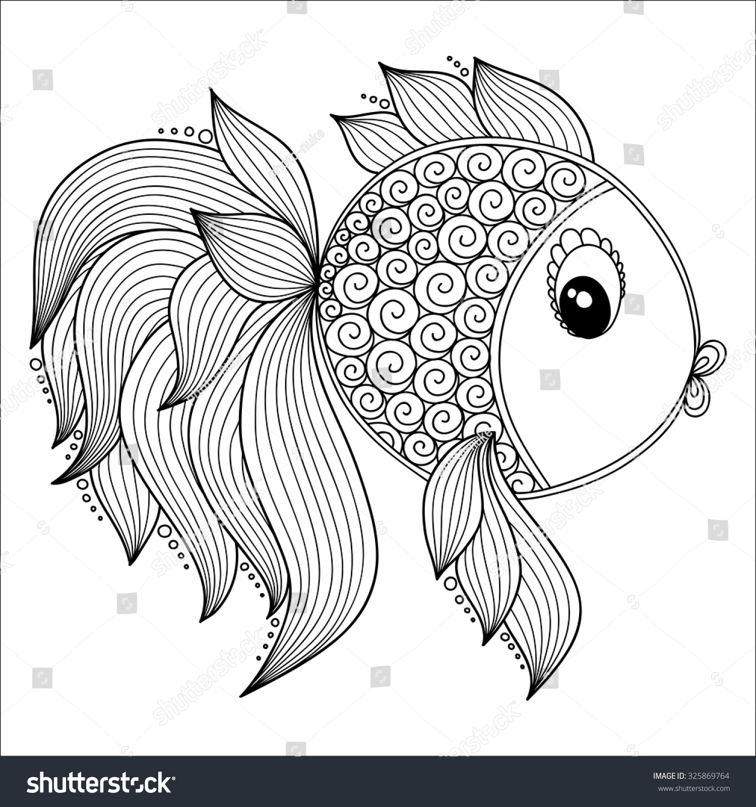 pattern coloring book coloring book pages stock vector 325869764