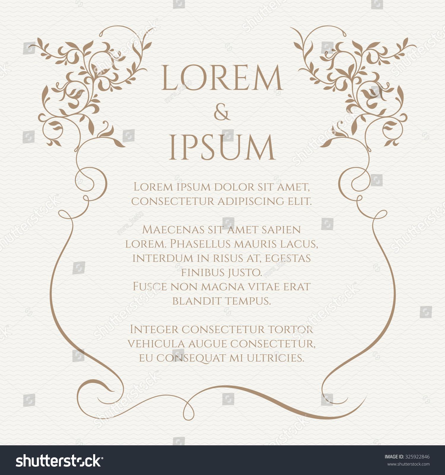 invitations borders