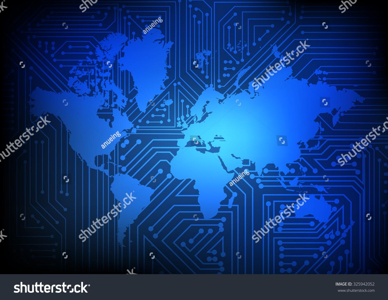 electronic world background - photo #4