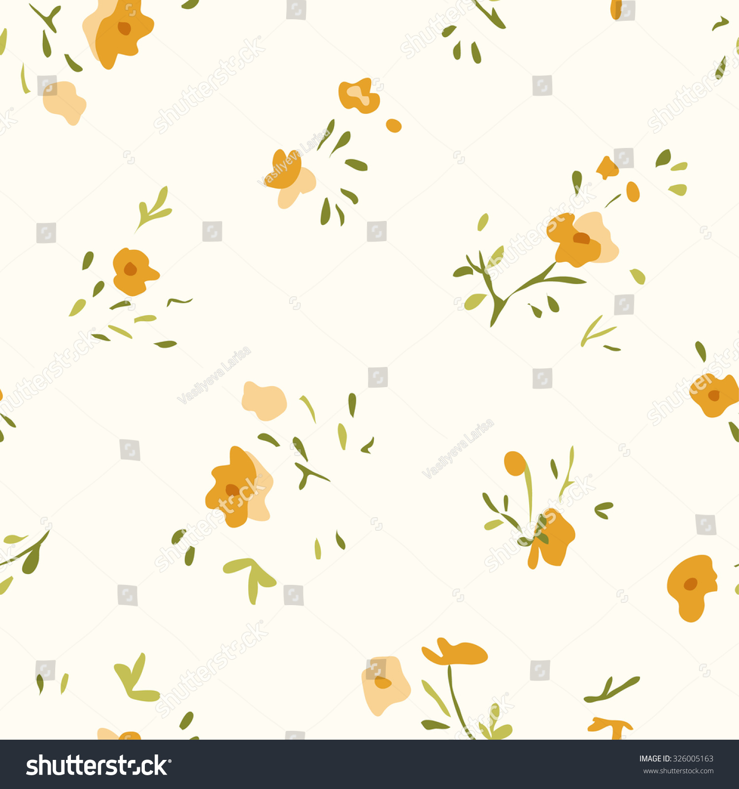 Small Flower Pattern Vintage Floral Seamless Stock Vector