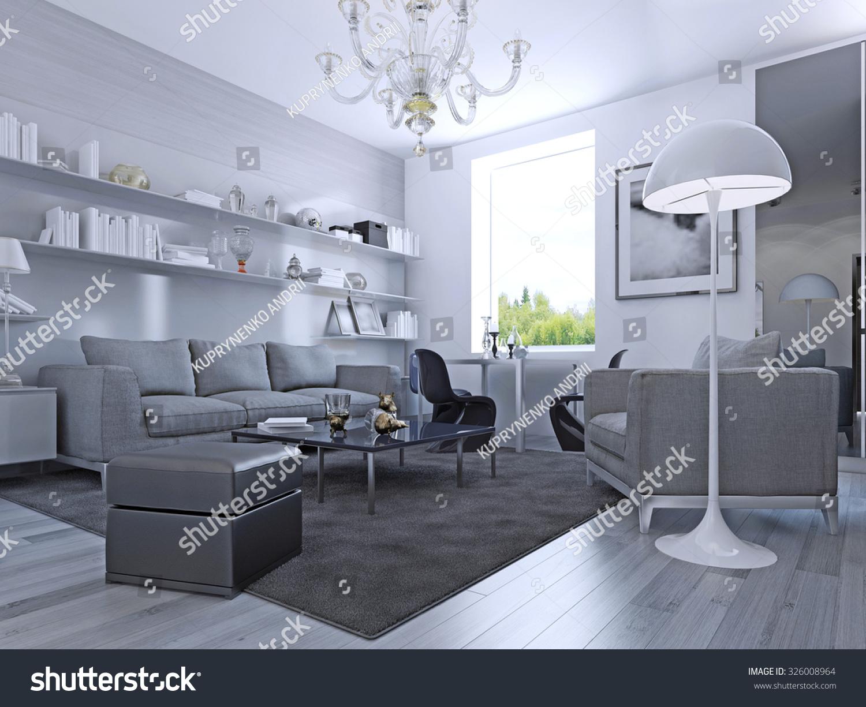Grey Living Room Floor