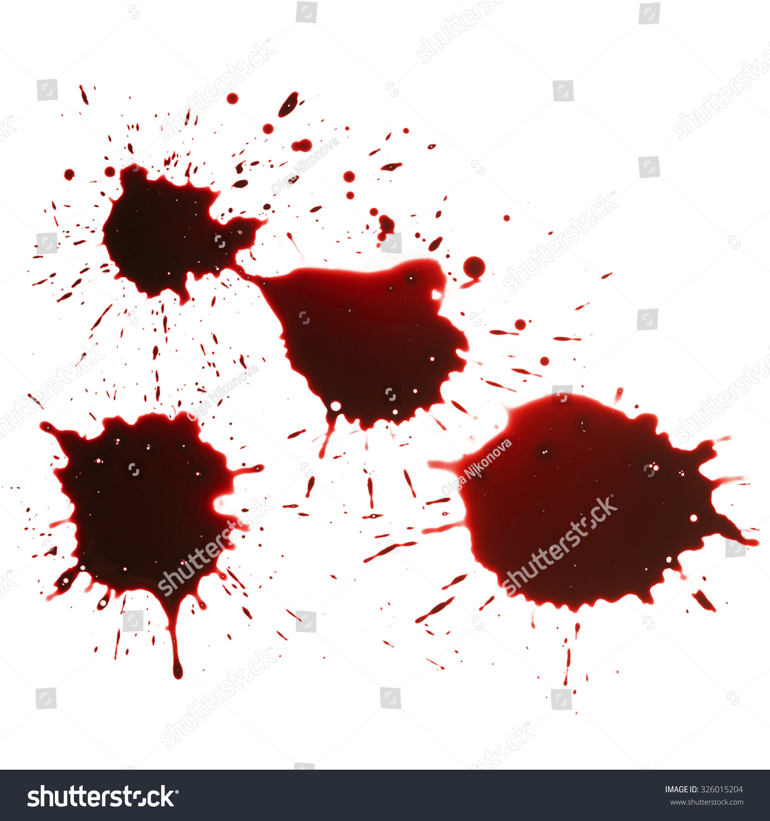 blood drip isolated in white background stock photo