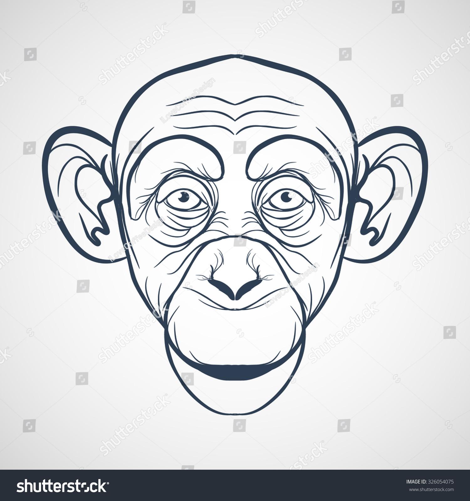 monkey vector stock vector 326054075 shutterstock