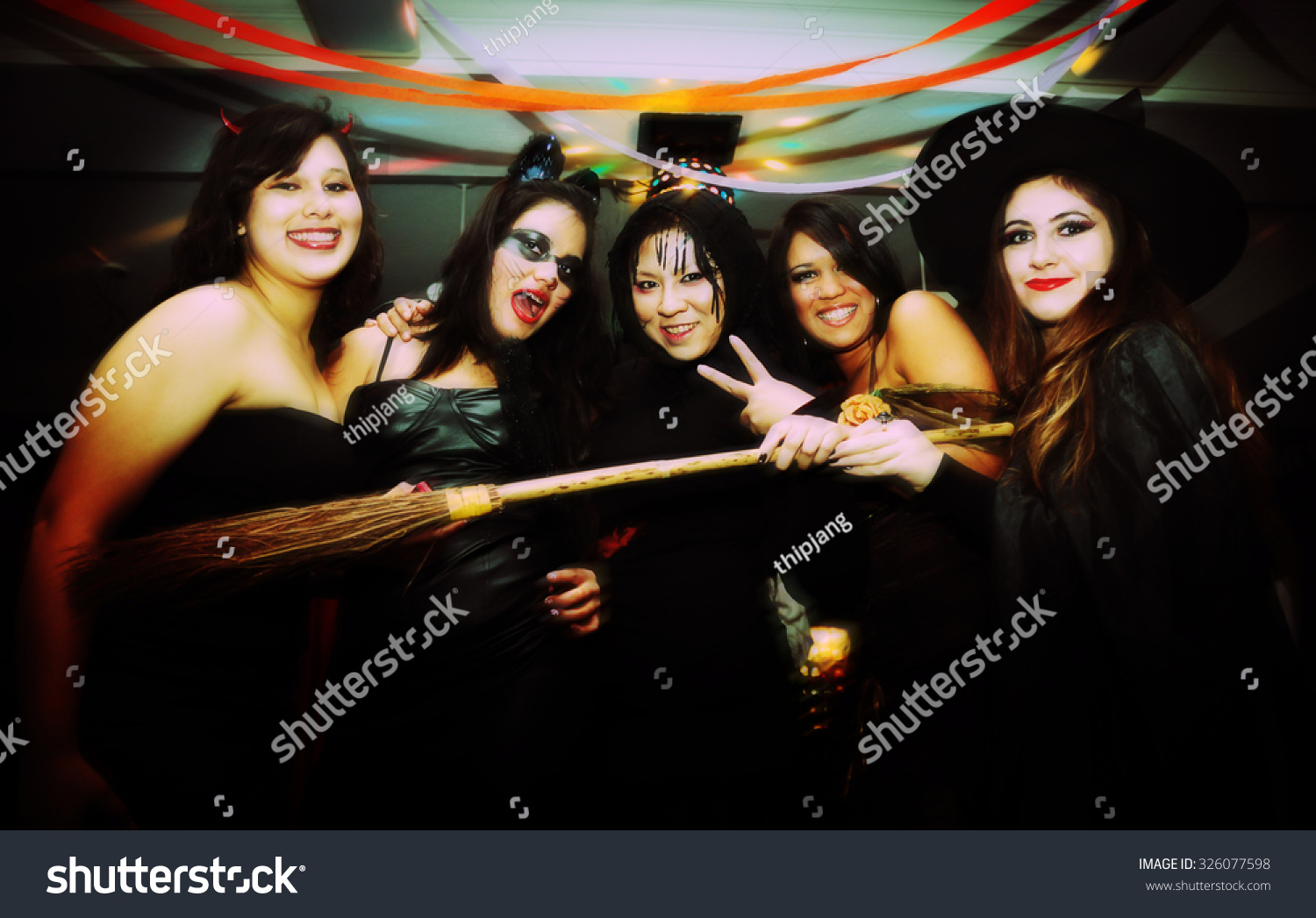 Boston October 31 Group Young People Stock Photo 326077598 ...
