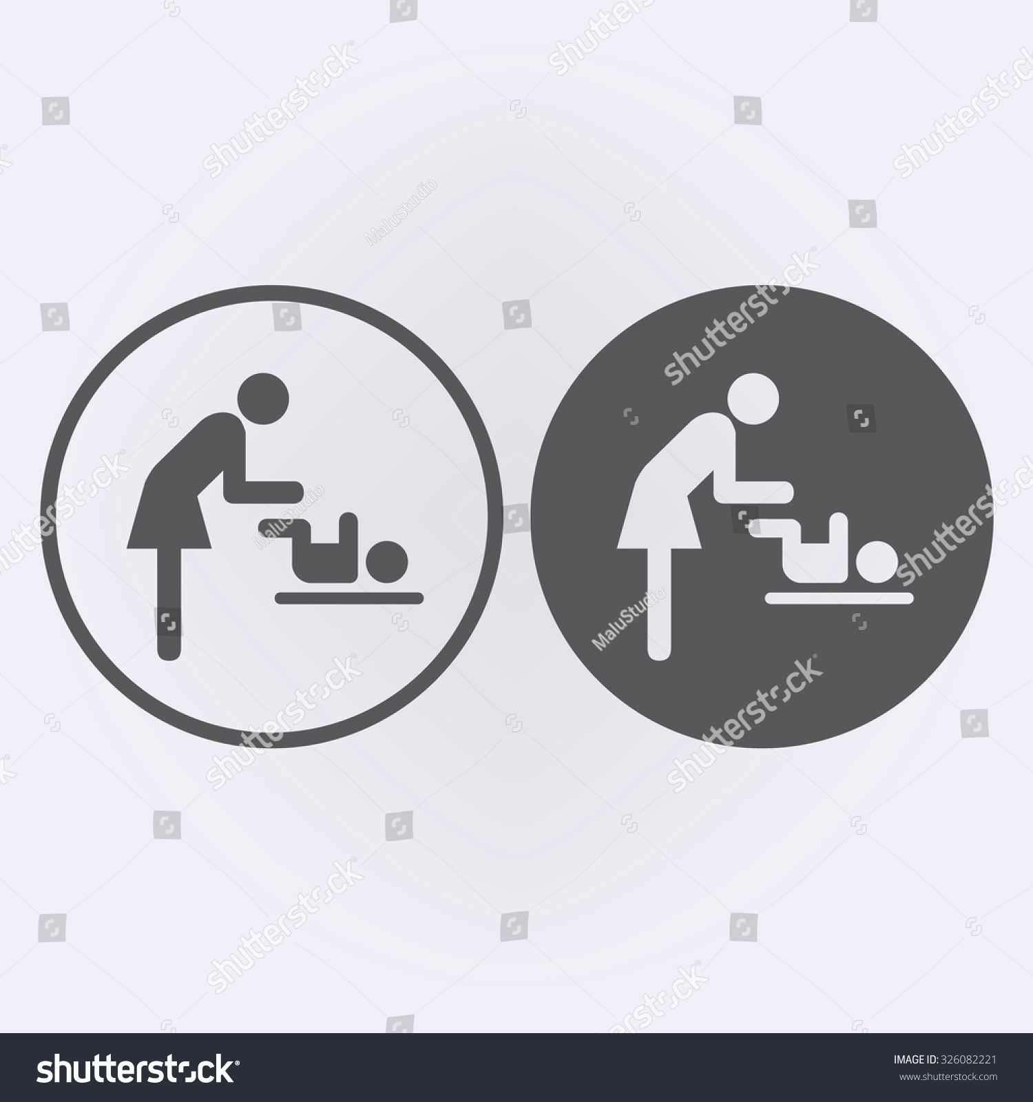 Symbol women baby toilet icon set stock vector 326082221 shutterstock symbol for women and baby toilet icon set in circle vector illustration biocorpaavc Gallery