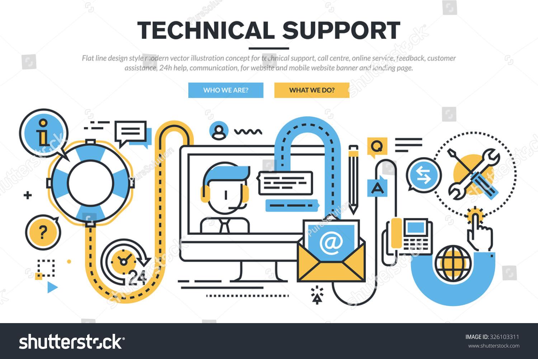 Flat line design vector illustration concept stock vector for Online architect services