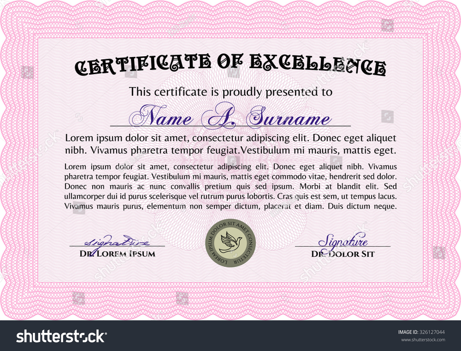Diploma template certificate template vector pattern stock vector diploma template or certificate template vector pattern that is used in currency and diplomas yadclub Image collections