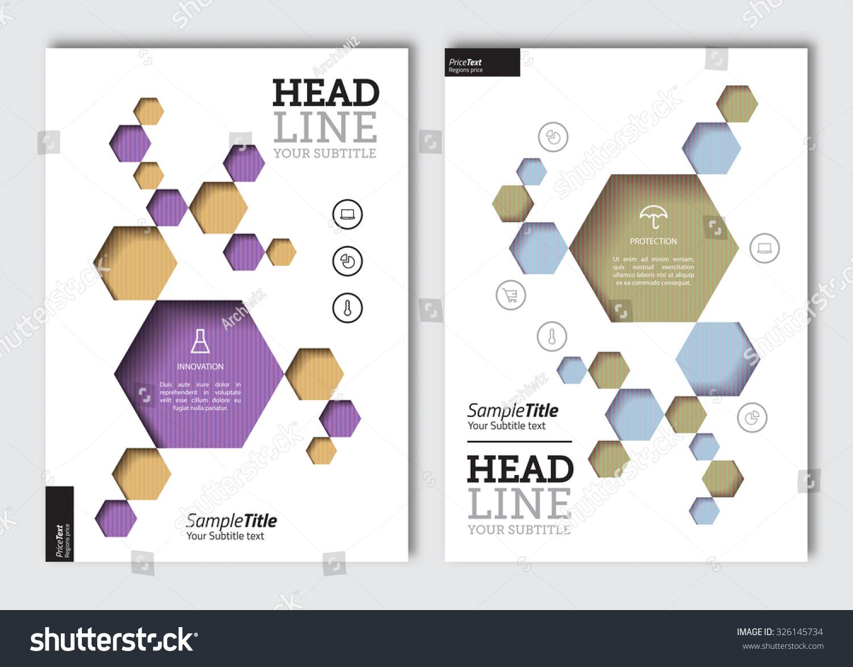 science brochure template - business brochure design template vector flyer stock
