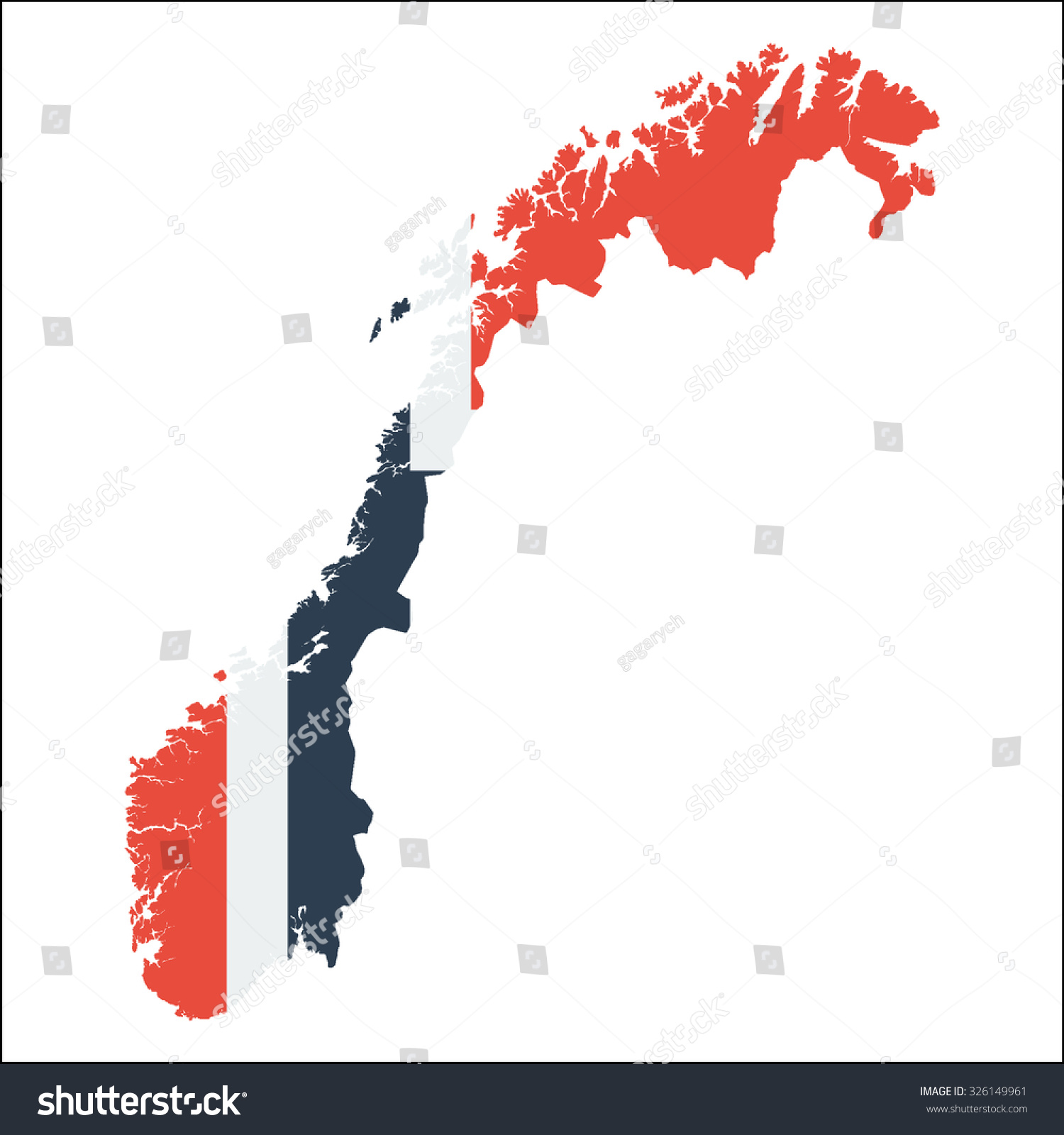 High Resolution Norway Map Country Flag Stock Vector - Norway map and flag