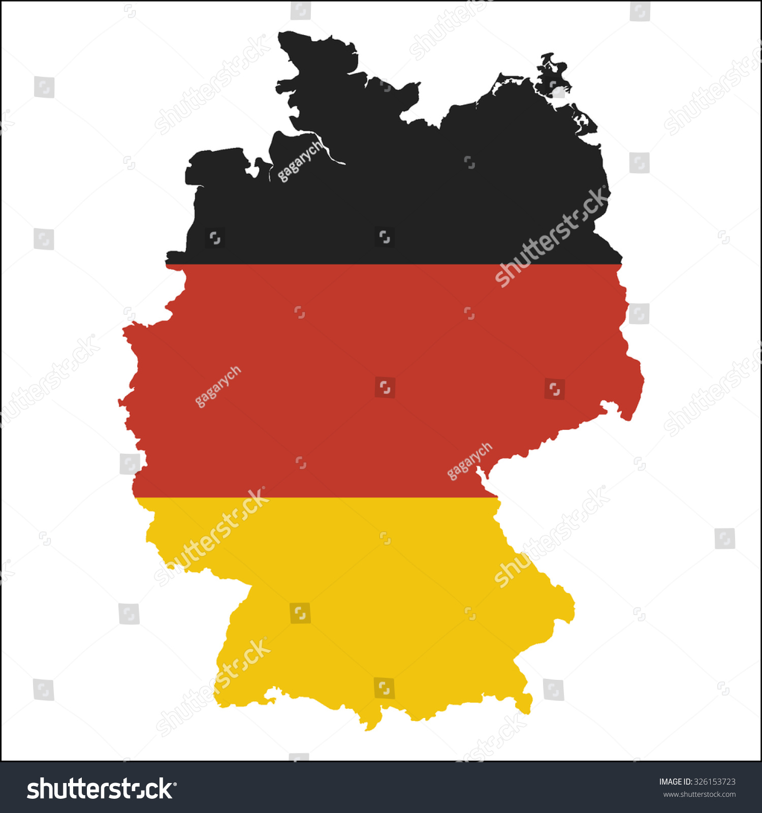 High Resolution Germany Map Country Flag Stock Vector - Germany map high resolution