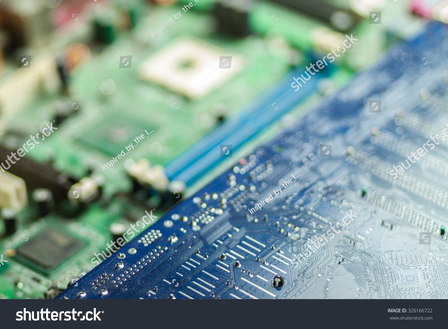 Royalty Free Blurred Printed Circuit Board Wallpaper 326166722 Detail Of A Stock Image Photo