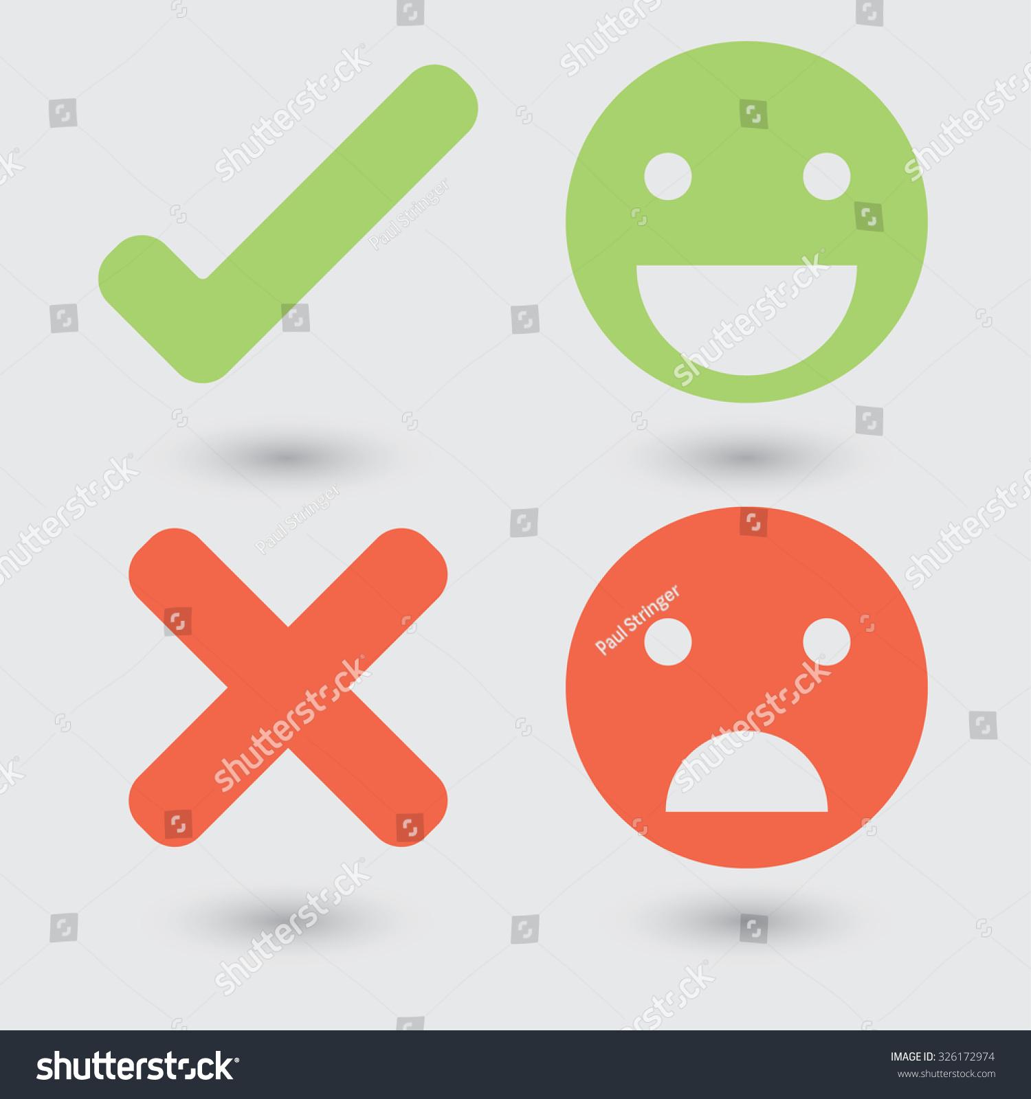Good Bad Symbols Stock Vector 326172974