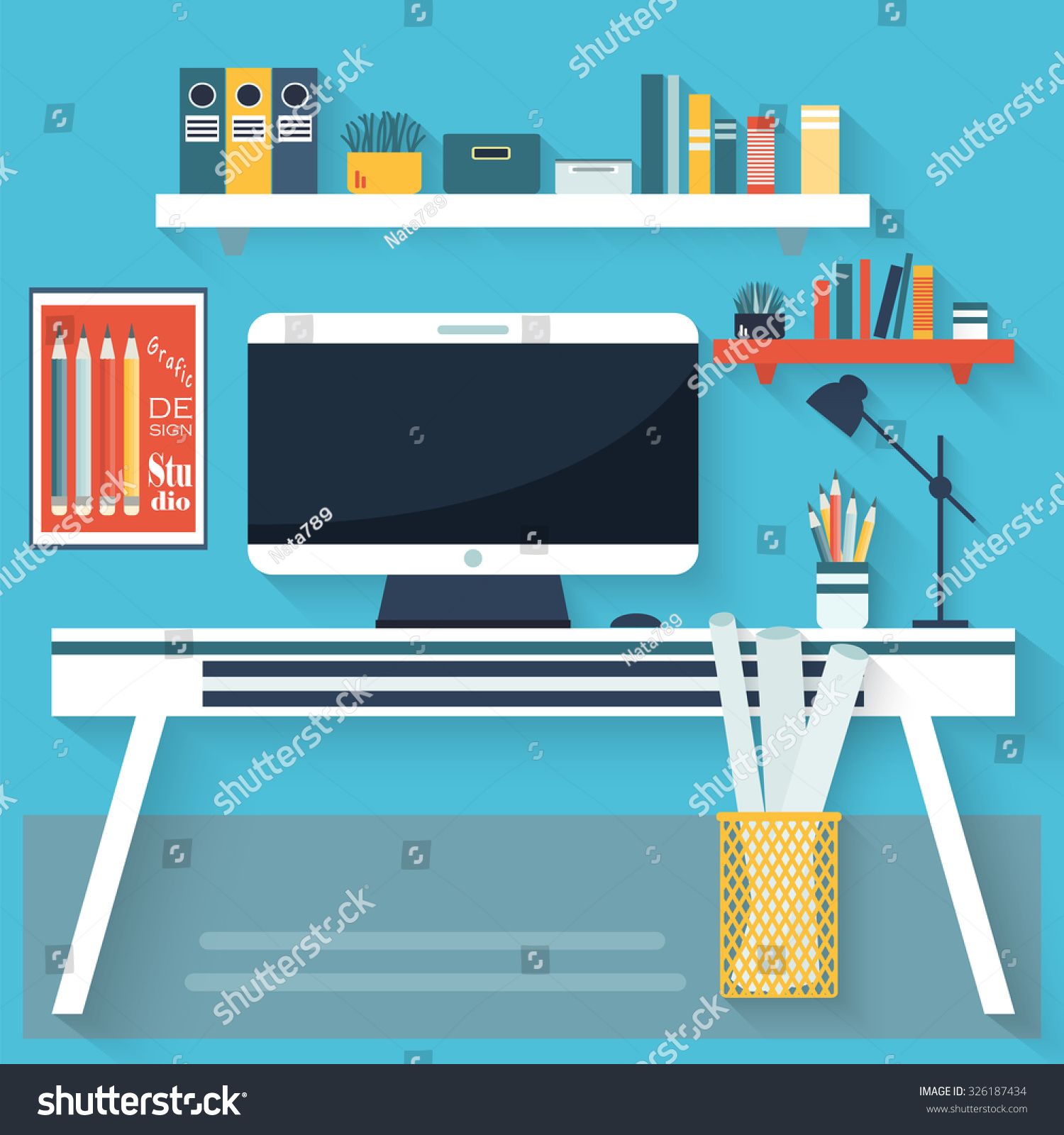 Shutterstock Vector Line Living Room