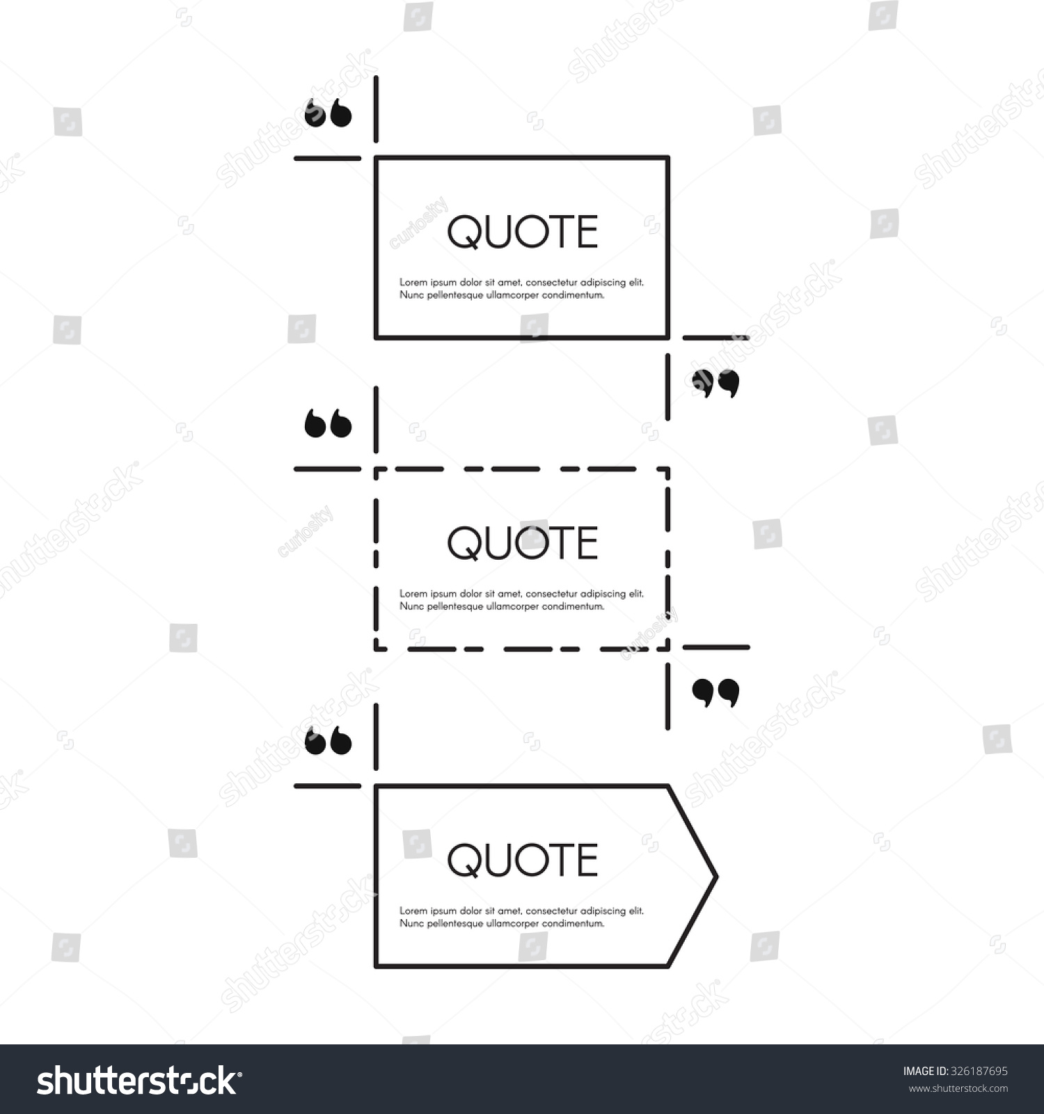 quote text bubble quote blank template stock vector  quote text bubble quote blank template