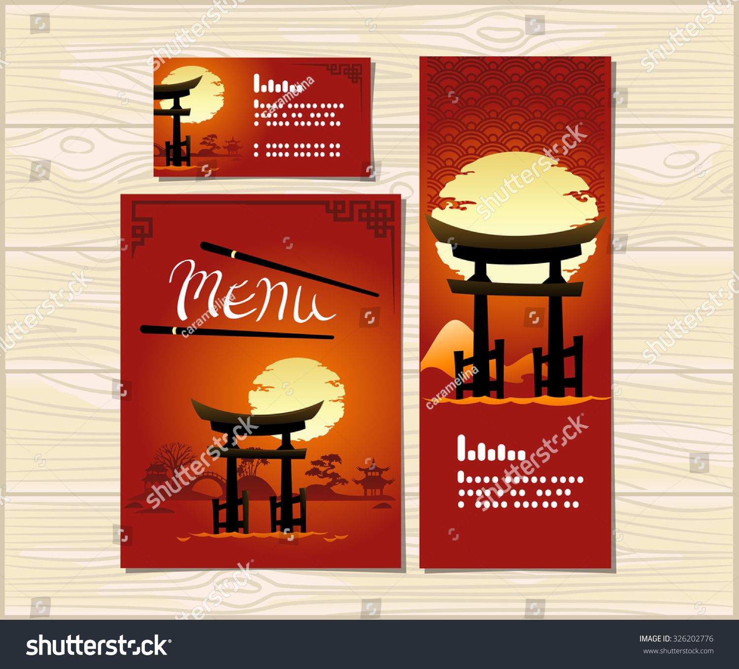template cover japanese food menu flyer stock vector (royalty free